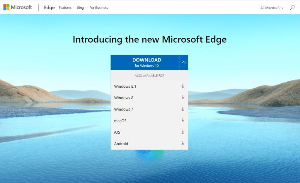 เบราเซอร์ Microsoft Edge รองรับระบบปฏิบัติการ Windows, Mac, Android และ iOS